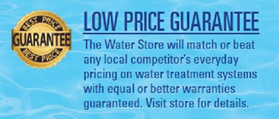 low prices and water treatment and testing services by the water store